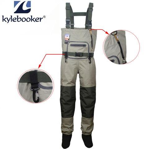 caca limicolas pesca duravel e confortavel respiravel stocking wader peito do pe kits para homens