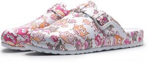 Image 3 - Evaプリントスリッパ調節可能な看護婦フラット底の動作靴ソフト底ガーデンライト快適なノンスリップクリーン靴
