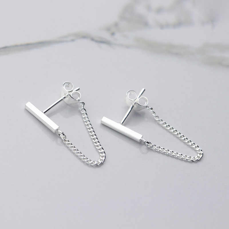 100% 925 Sterling Silver Stud Earrings For Women Girls Party Gift Pendientes Brincos Prevent allergy Female Jewelry