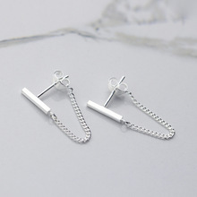 100 925 Sterling Silver Stud Earrings For Women Girls Party Gift Pendientes Brincos Prevent allergy Female Jewelry cheap TenJshunzhu NONE 925 Sterling Third Party Appraisal EH708 TRENDY geometric