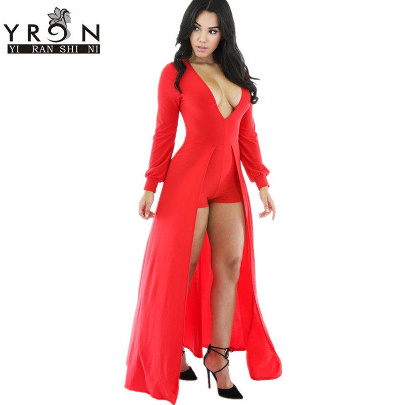 Aliexpress.com : Buy Fashion 2016 One Piece Red Jumpsuit For Women ...