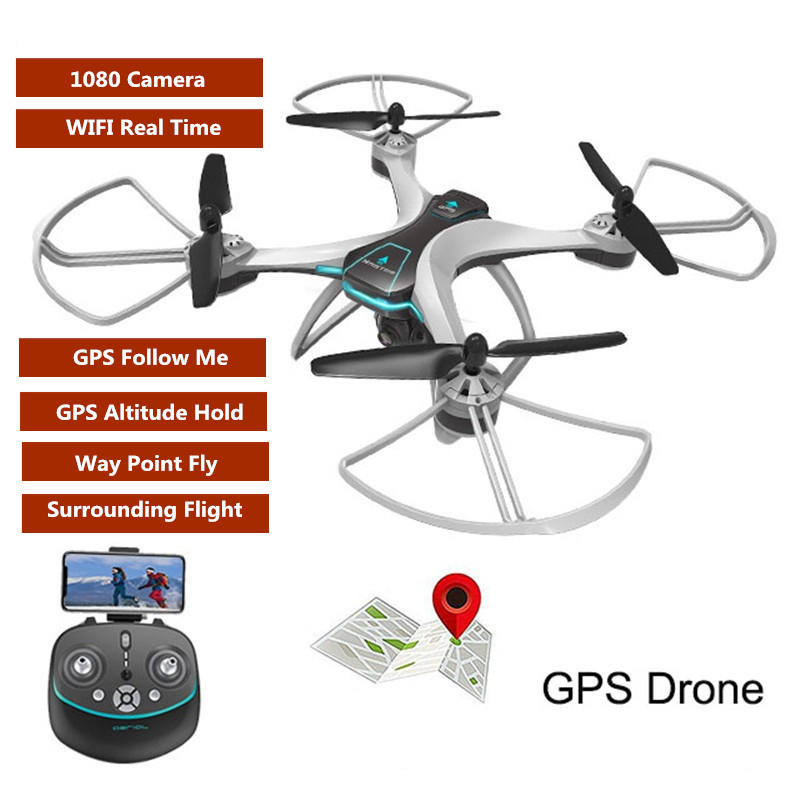 2018 Upgrade Wifi FPV <font><b>GPS</b></font> Positioning <font><b>Follow</b></font> Me RC <font><b>Drone</b></font> 2.4G 1080P HD Camera Waypoint Plan Flying RC Quadcopter VS <font><b>X183</b></font> X28 image