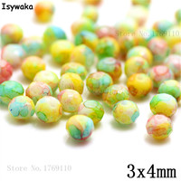 Isywaka 3X4mm 30,000pcs Rondelle Austria faceted Crystal Glass Beads Loose Spacer Round Beads Jewelry Making NO.29