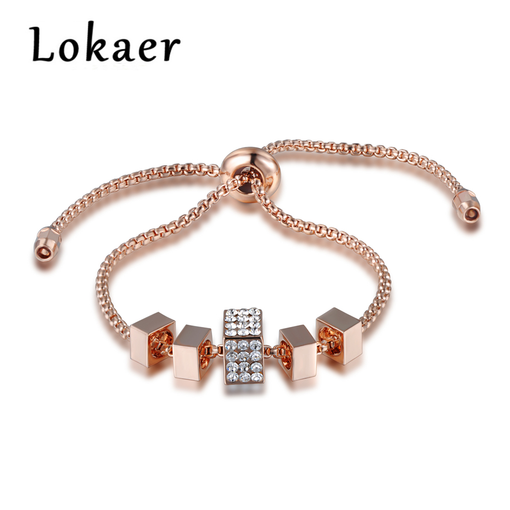 Square Charm Bracelet: Aliexpress.com : Buy Lokaer Original Model Classic 5Pcs