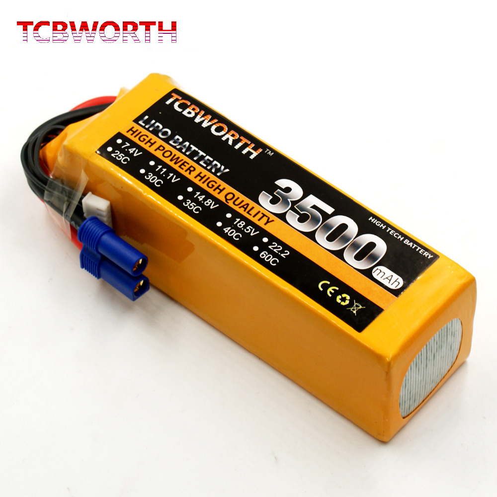 TCBWORTH RC 6S Airplane Lipo battery 22.2V 3500mAh 60C-120C For RC Quadrotor Helicopter Drone Car Boat Li-ion battery tcbworth 11 1v 3300mah 60c 120c 3s rc lipo battery for rc airplane helicopter quadrotor drone car boat truck li ion battery