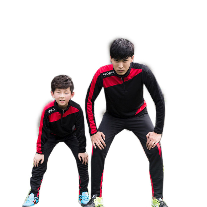 ФОТО Kids Sport Clothing Set Boy's Football Jacket/Pant Long Sleeve Spring Autumn Basketball Sports Suit Boys soccer jersey Children