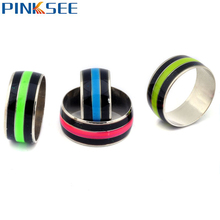 Pinksee Brand 5pcs Mood Ring Change Colors Luminous Rings For Women Vintage Band Jewelry Wholesale Free Shipping