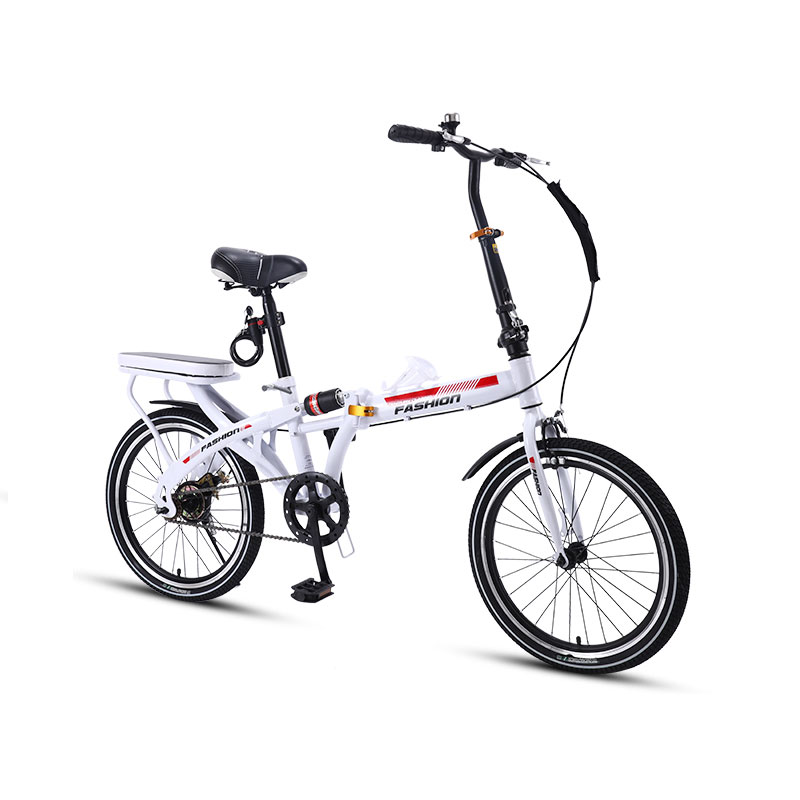 Folding Bicycle 16/20 Inch Small Mini Ultra Light Portable Variable Speed Shock Absorption Adult Bike