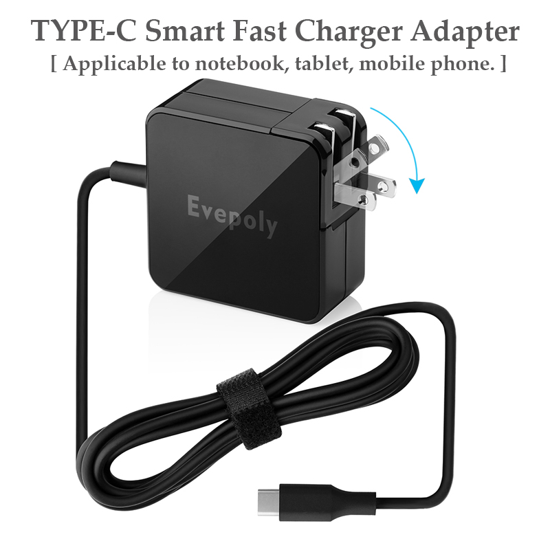 For Lenovo 65W USB Type C Universal Fast Charger For Apple Mac Pro 13