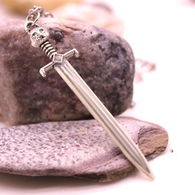 Game of Thrones Stark Wolf Sword Luminous Necklace