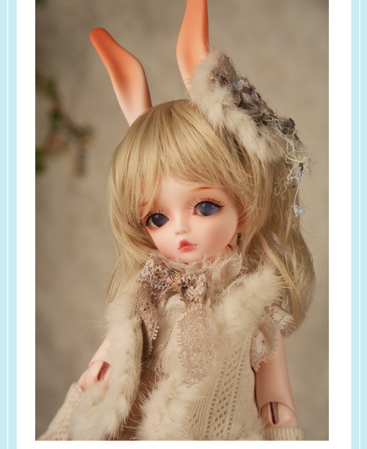 luodoll BJD doll SD doll soom flint hawa small rabbit special(include makeup and eyes) luodoll bjd doll sd doll 6 points female baby ramcube ravi yosd 1 6 joint doll doll include makeup and eyes