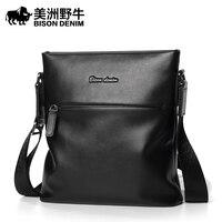2017 BISON DENIM Brand Handbag Men Shoulder Bags Genuine Leather Men's Briefcase Cowhide Business Casual Messenger Bag Free Ship