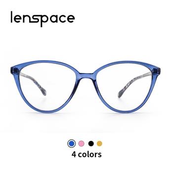Oprawki do okularów kocie oczy damskie okulary na receptę okulary do niebieskiego światła TR90 okulary optyczne krótkowzroczność okulary komputerowe okulary damskie tanie i dobre opinie LENSPACE WOMEN Plastikowe tytanu Stałe CP1006 FRAMES Okulary akcesoria