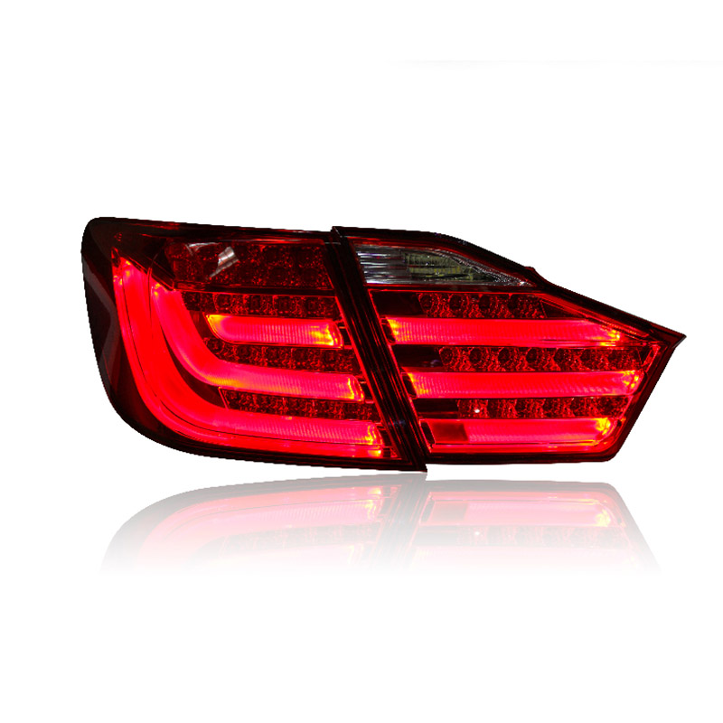 2 pieces Rear L/R DRL Rear Trunk Signal+Brake+Reverse LED Taillights For Toyota Camry 7th car styling led tail lamp for toyota camry taillights 2012 2014 camry rear light drl turn signal brake reverse auto accessories