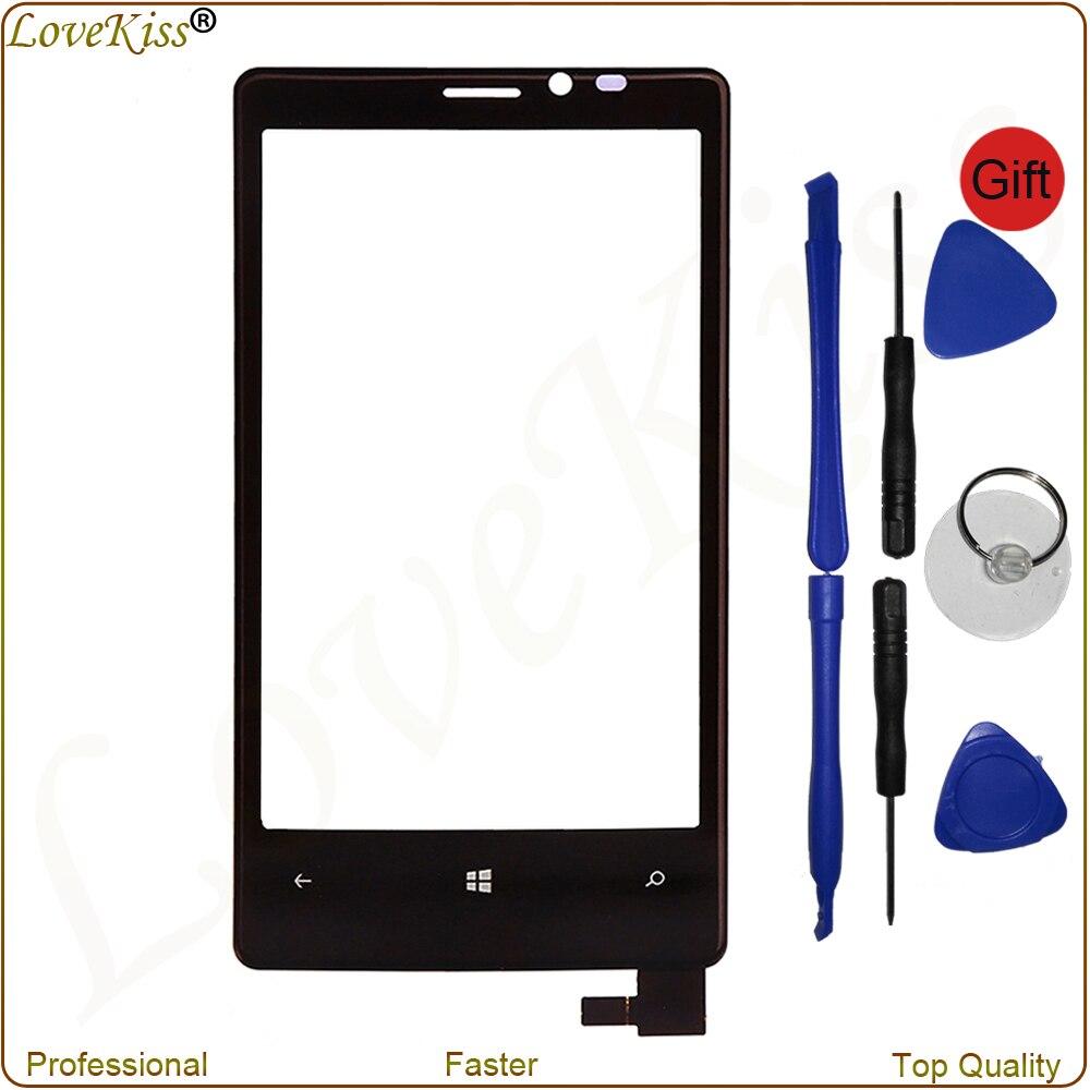 Pantalla táctil de 4,5 pulgadas para Nokia Lumia 920 N920 Panel táctil frontal Digitizer Sensor de vidrio exterior pantalla reemplazo con herramientas