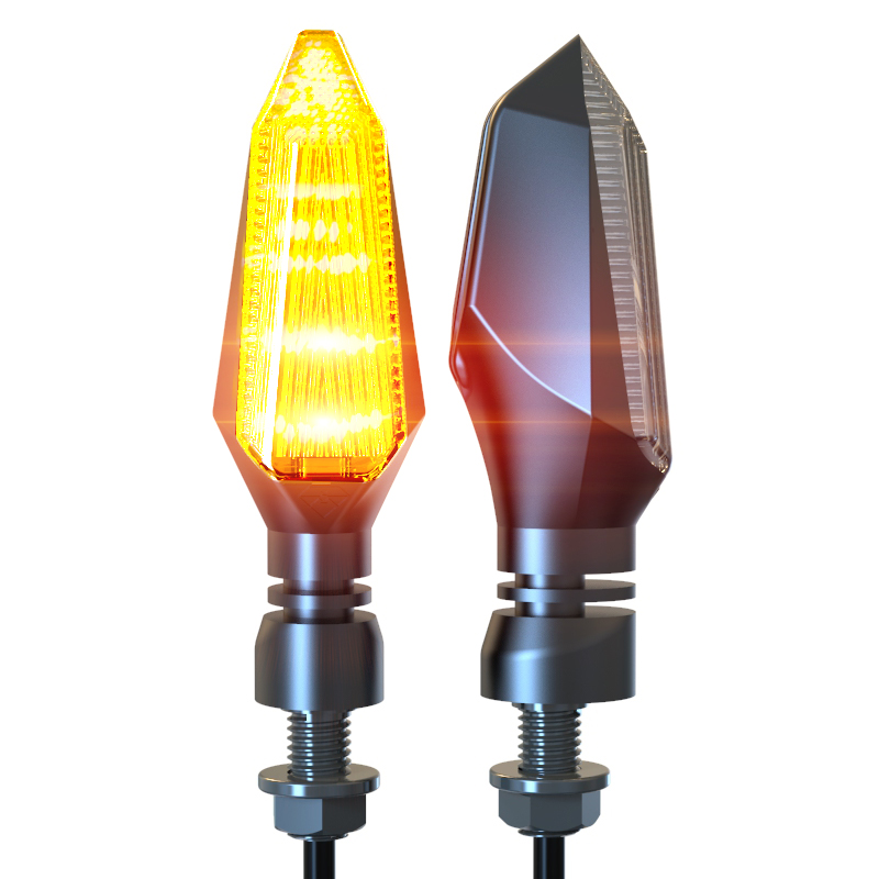 Motorcycle LED Turn Signal Lights Amber Lamp Left Right Signals Indicators Blinkers Highlight Universal for Honda Kawasaki ktm