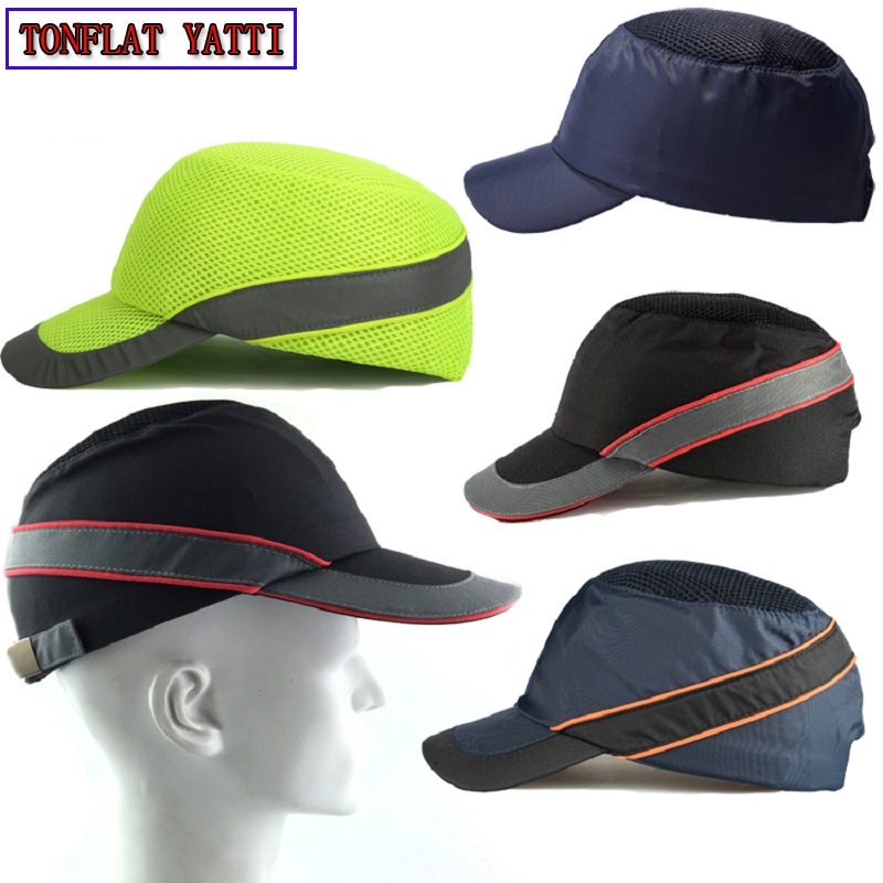 New 2018 Baseball cap style Safe helmet Work Hat anti-smashing summer breathable sunscreen fashion personalized Working sun hat voron 2017 new design women crystal star denim baseball cap fashion pentagram gorras snapback hat