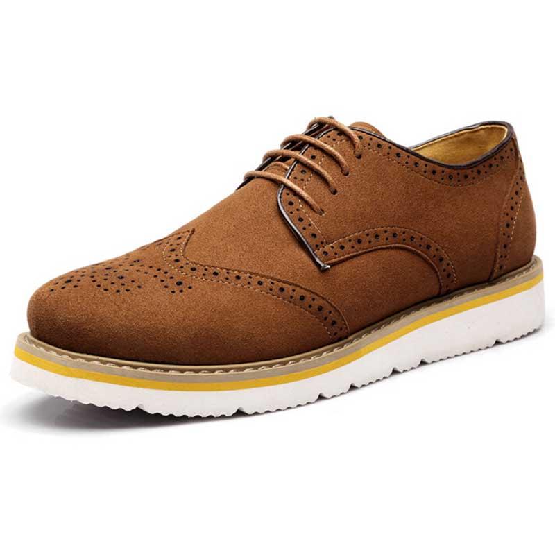 Tangnest 2018 Neue Männer Oxfords Herbst Ausgeschnitten Brogue Schuhe mann  Wildleder Plattform Wohnungen Casual Schuhe Große Größe 38 47 XMP396 in  Tangnest ... be7c2253bc