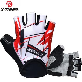 X-tiger luvas sem dedos para ciclismo, luva de bicicleta à prova de choque para mtb, mountain bike, roupa de esportes para homens 1