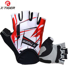 X-Tiger Top Quality Cycling Gloves Half Finger Bike Gloves Shockproof MTB Mountain Bicycle Gloves Men Sports Cycling Clothings(China)