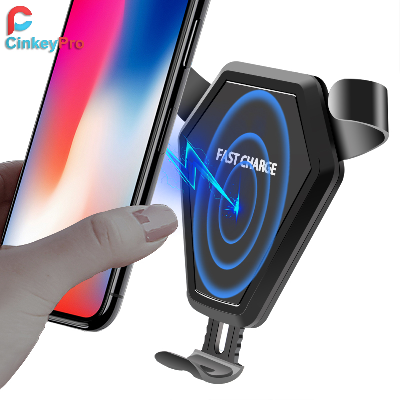 CinkeyPro Wireless Car Charger Gravity reaction Holder for