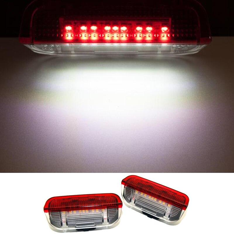 KAHANE 2x LED Mobil Pintu Cahaya Di Bawah Pintu Peringatan Cahaya - Lampu mobil - Foto 2