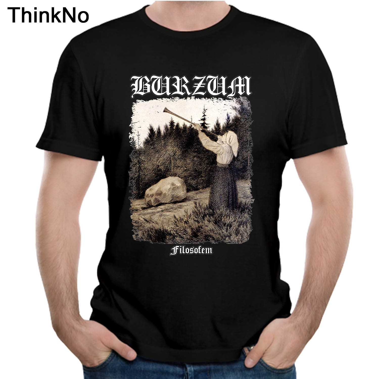 Burzum Filosofem Cover   T     shirt   Summer Top design Popular Tees Nice Short-sleeved Casual Fashion Cool