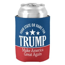 Unique Fashion Donald Trump Customize with Your Name or State Can Cooler Personalized Beverage Can Cooler Holder Drink Insulator