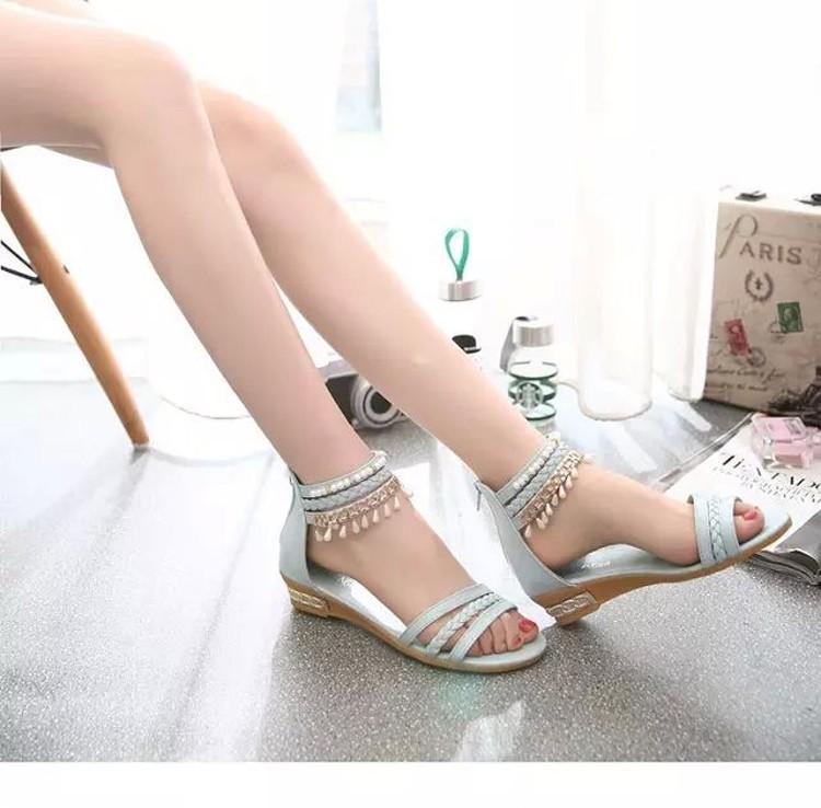 women sandals 2016 fashion Bohemia gladiator sandals women beading sandalias mujer wedges shoes for women 2016 new spring DT141 (2)