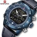 NAVIFORCE Top luxus Marke Neue Männer Mode Sport Uhr Männer Wasserdichte Quarz Digital Led Uhr Herren Militär Armbanduhr
