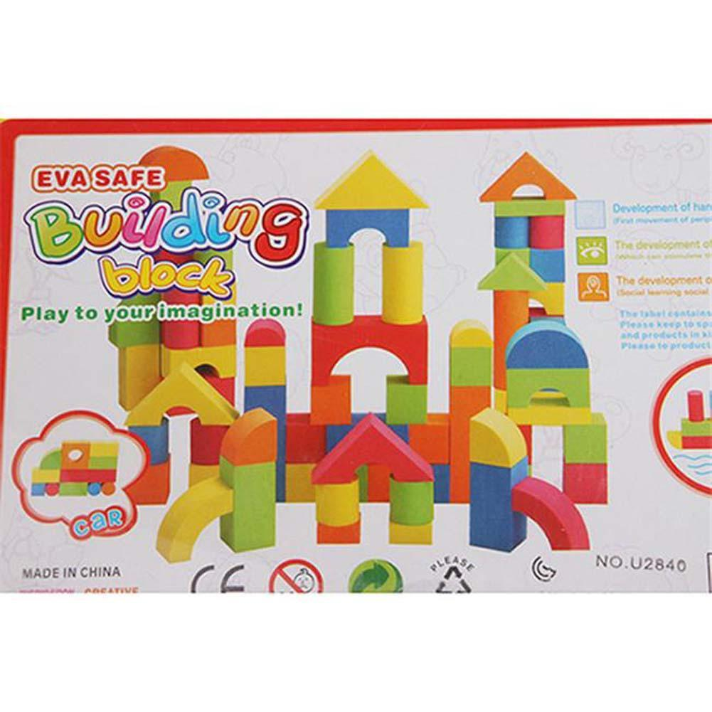 Hot Mixed Colors EVA Puzzle Building Toy For Kids Children Educational educational toys Christmas gifts for kids toddler A676 knots ru bun lock children puzzle toy building blocks