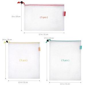 Image 4 - 15 шт., многоразовые сетчатые мешки для хранения продуктов