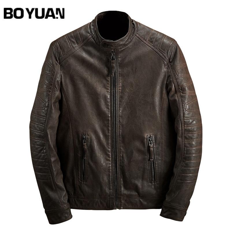 BOYUAN Brand font b Men b font PU Leather font b Jacket b font 2017 Autumn