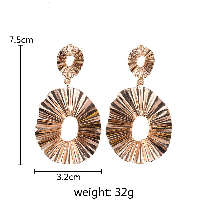 Charmelry Exaggerated Big Brand Design Luxury Pendant Alloy Hoop Earrings Statement Earrings Jewelry