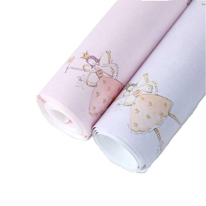 Танцевальные девушки мультфильм обои для стен дети девушка обои для спальни розовый фиолетовый фресковая роспись papel де parede infantil