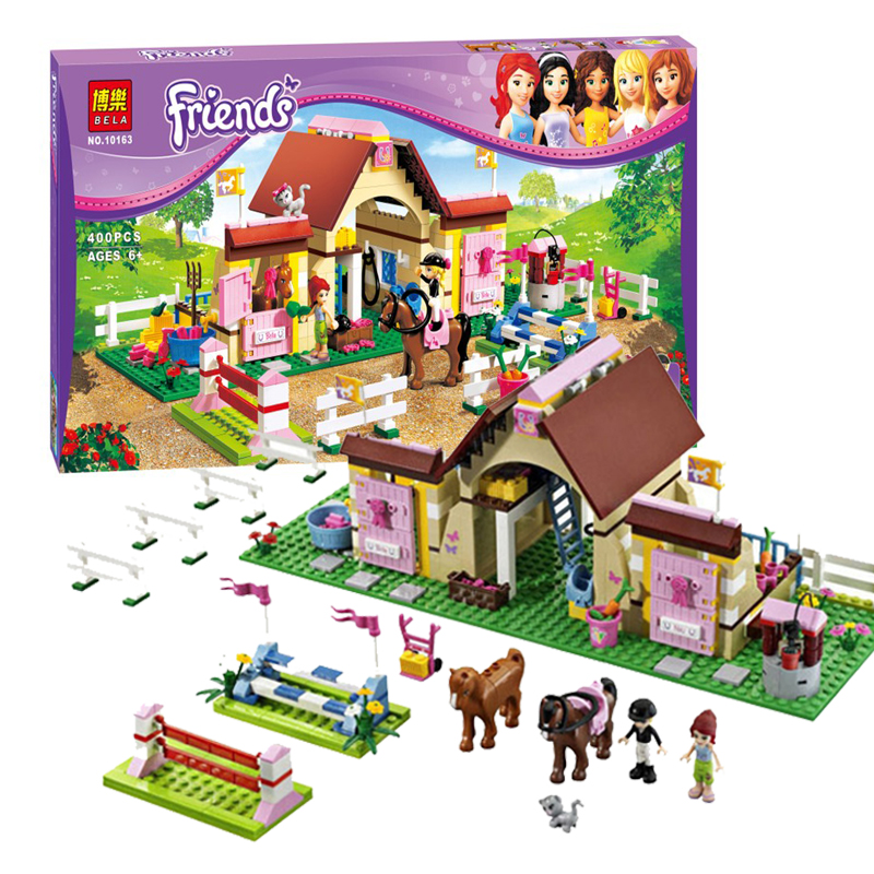 ZW 2016 New Bela Friends 10163 Heartlake Stables Girls Mia s Farm Building Blocks 400pcs set