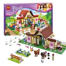 ZW 2016 New Bela Friends 10163 Heartlake Stables Girls Mia's Farm Building Blocks 400pcs/set Bricks toys Compatible with Legoe