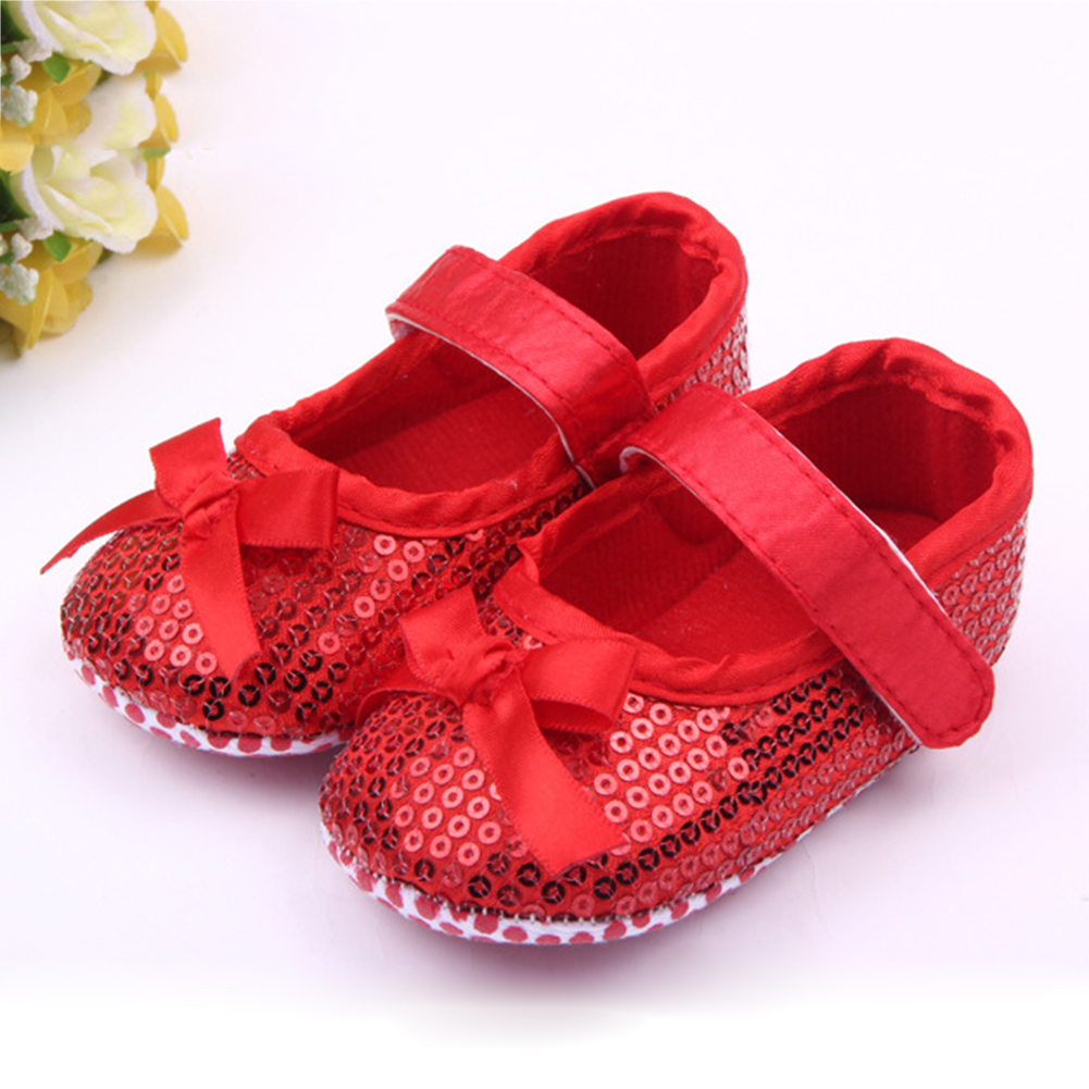 Baby Sequin Shoes Cute Sole Cotton Soft Bottom Toddler ...