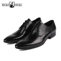 Mens Shoes Dress Sales Genuine Leather Black Brown Fashion Formal Business Male Shoes Classic Pointed Toe