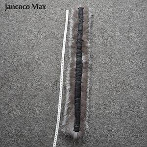 Image 5 - Vrouwen Real Silver Fox Bont Sjaal Winter Mode Bontkraag Op Kap Luxe Sjaals Vossenbont S7396