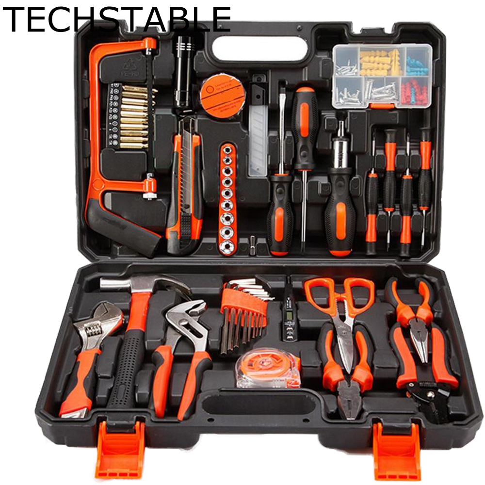 TECHSTABLE 102 Pcs Robust lightweight Universal Multi-functional Precision Maintenance Repair Hardware sets Home Tools 2018 100pcs maintenance repairing hardware instrumental sets robust lightweight multifunctional hand tools kits fast delivery