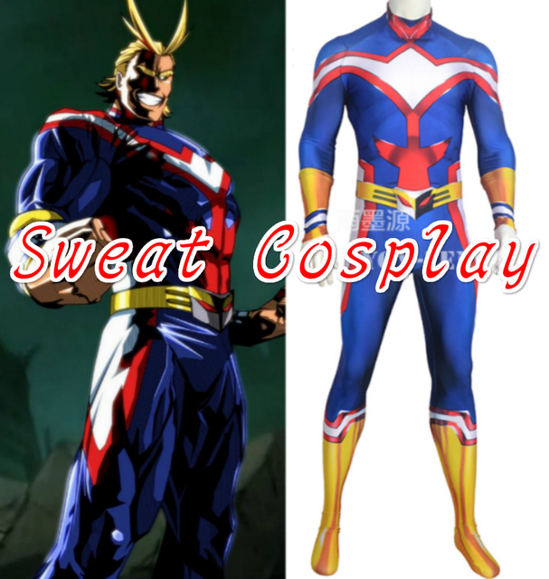 High Quality My Hero Academia All Might Costume Boku no Hero Academia cosplay Lycra Spandex Zentai & High Quality My Hero Academia All Might Costume Boku no Hero ...