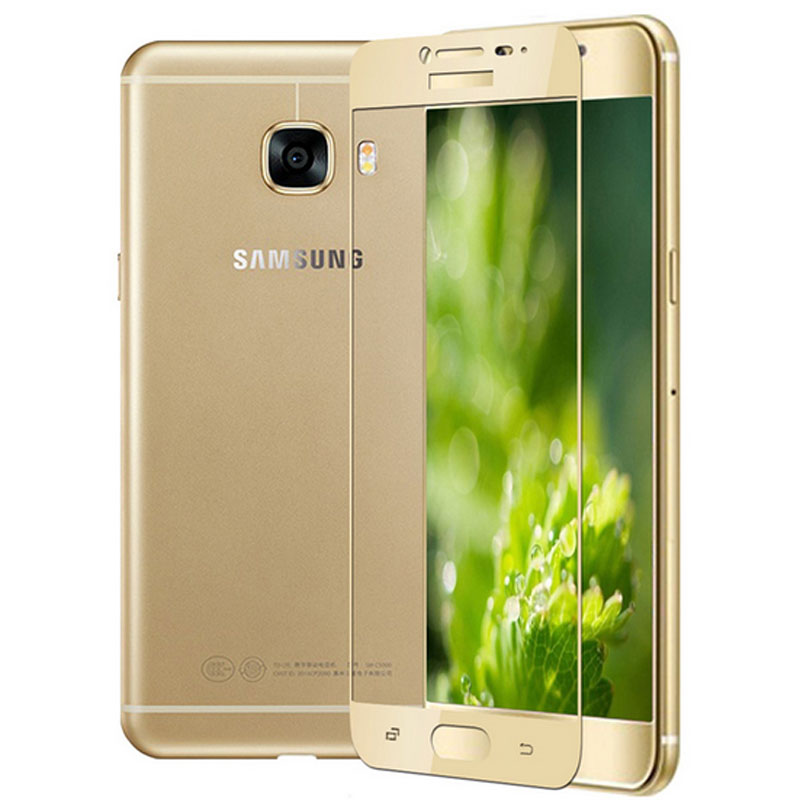 GerTong Penuh Penutup Kaca Tempered Untuk Samsung Galaxy A3 A5 A7 A7 - Aksesori dan suku cadang ponsel - Foto 2