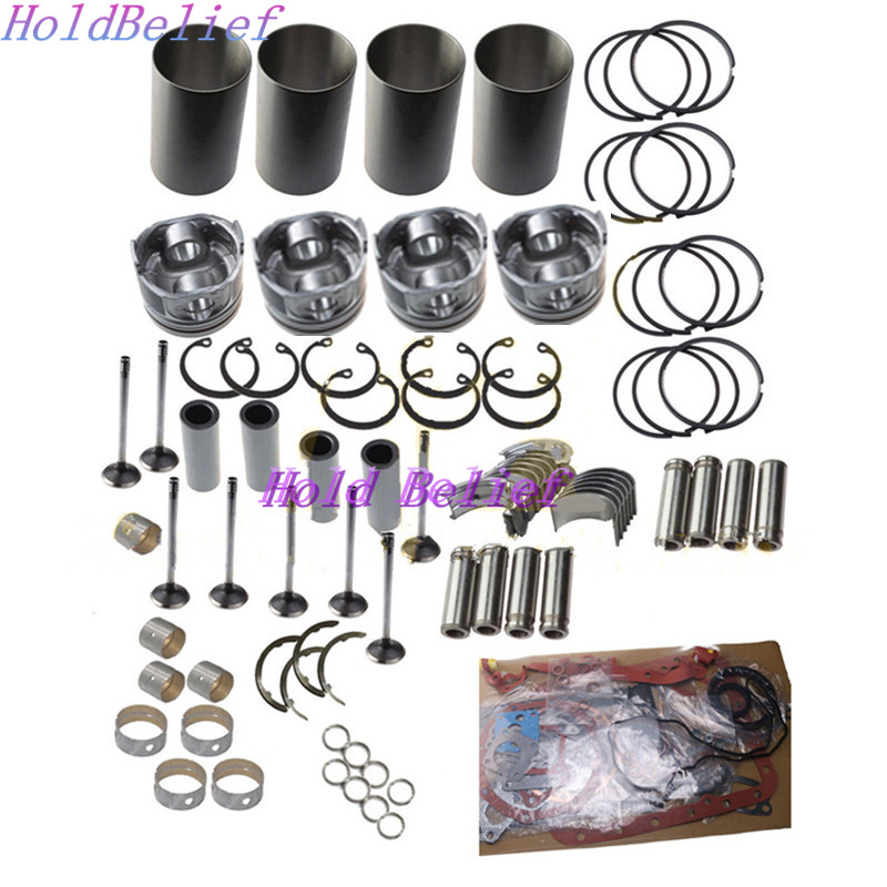 4JG2 Engine Overhaul Rebuild Kit For Isuzu TCM For Komatsu Hyster Forklift Truck
