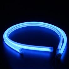 2pcs 60cm Blue LED DRL Strip Car Day Light Flexible Daytime Running Turn Signal Lamp Angel Eye Headlight