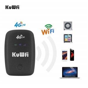 Image 2 - KuWFi Unlocked 4G LTE Wifi yönlendirici mobil taşınabilir 3G/4G Wifi yönlendirici SIM kartlı Router yuvası desteği LTE FDD B1/B3/B5