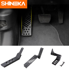 SHINEKA Pedals for Jeep Wrangler JL 2018+ Aluminum alloy Car Brake Foot Rest Pedal Pegs Plate Pads Cover For Jeep Wrangler JL(China)