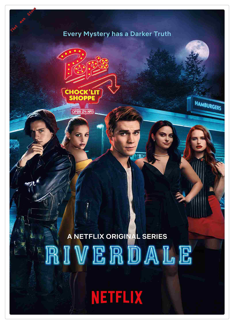 US $1 83 50% OFF|TV Show Series Crime Suspense Riverdale Poster white kraft  paper print Painting For Home wall decorative painting poster 42*30cm-in