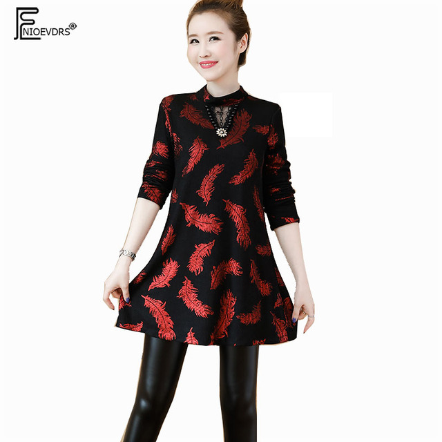 Winter Basic Mini Dresses Women 2019 New Year Date Wear Red Plus Size  Clothes 5XL 4XL Vintage Printed Velvet Tunic Dress 11225 5cfe1648520d