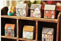 Multifunctional Rustic Fresh Small Tin Jewelry Box Tea Box Accessories Storage Box Mental Box Fairy Garden